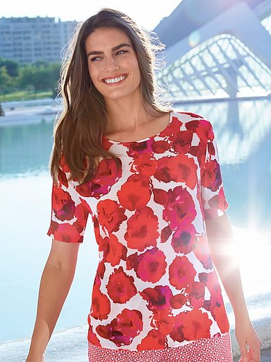 Emilia Lay - Top with short sleeves and corded ribbon