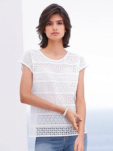Just White - Blusen-Shirt mit überschnittener Schulter