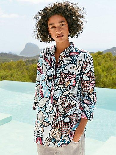 Peter Hahn - Lange blouse van 100% linnen met 3/4-mouwen