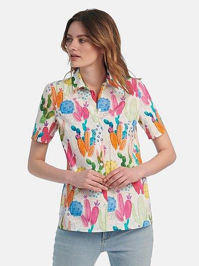 Peter Hahn - Blouse van 100% katoen in overhemdmodel