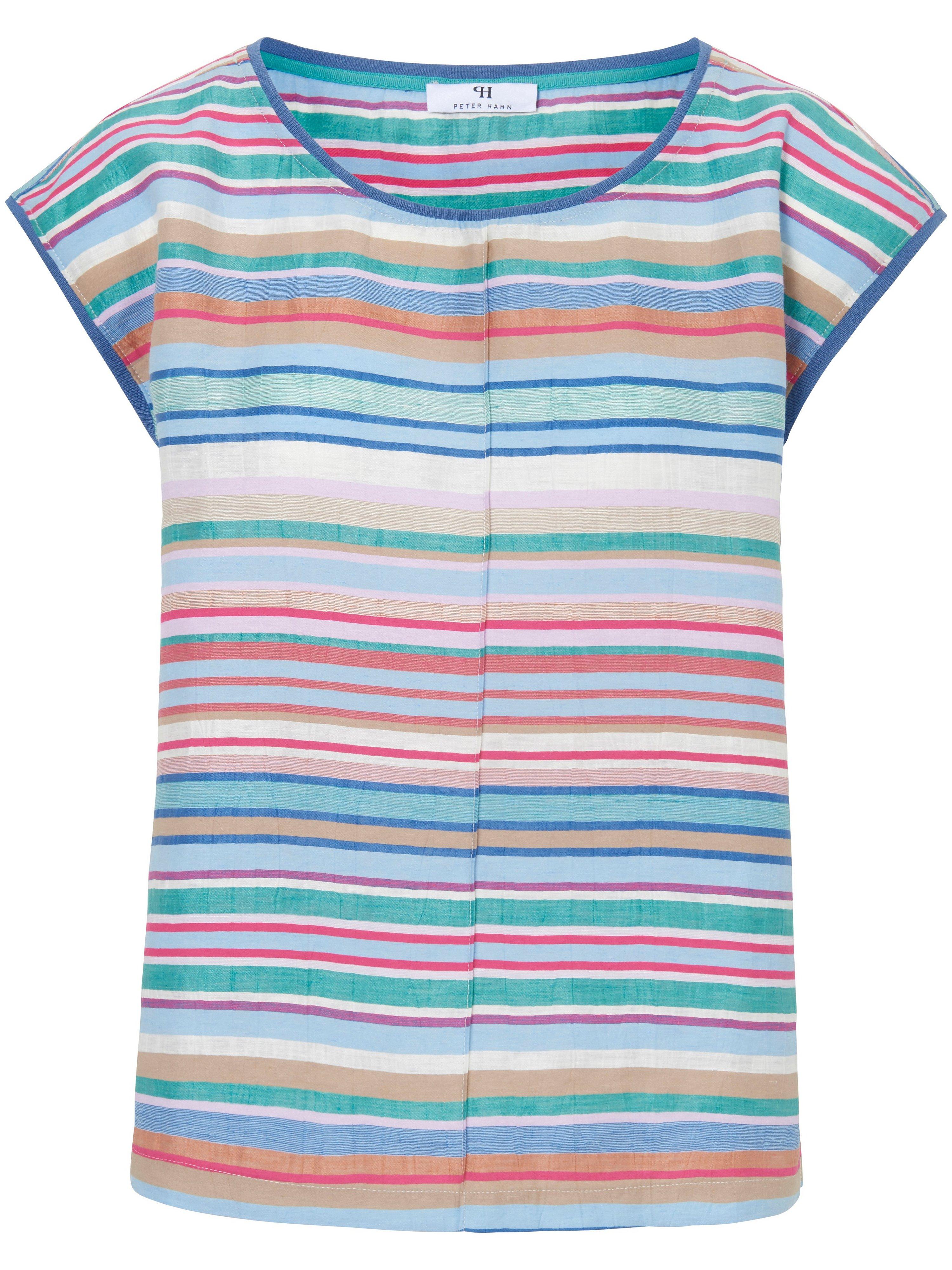 Striped top drop shoulder Peter Hahn blue