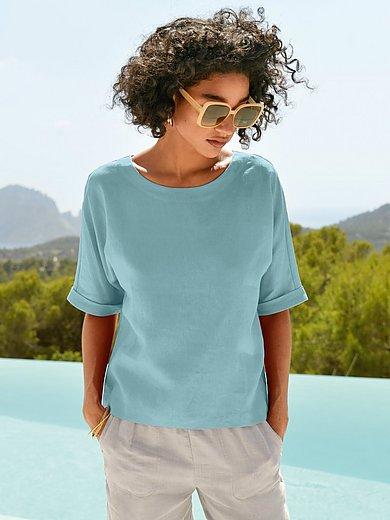 Peter Hahn - Shirt van 100% linnen met korte mouwen
