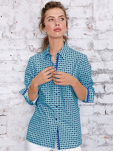Looxent - Shirt style blouse in 100% cotton