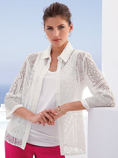 mayfair by Peter Hahn - Blusen-Jacke mit 3/4-Arm