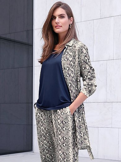 Emilia Lay - Lange blouse met lange mouwen en overhemdkraag
