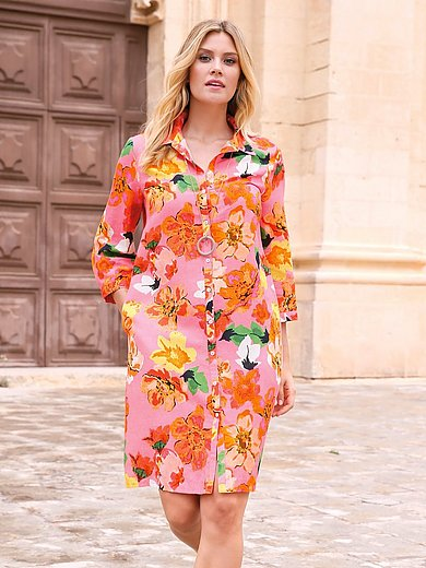 Emilia Lay - Lange blouse met 3/4-mouwen en overhemdkraag