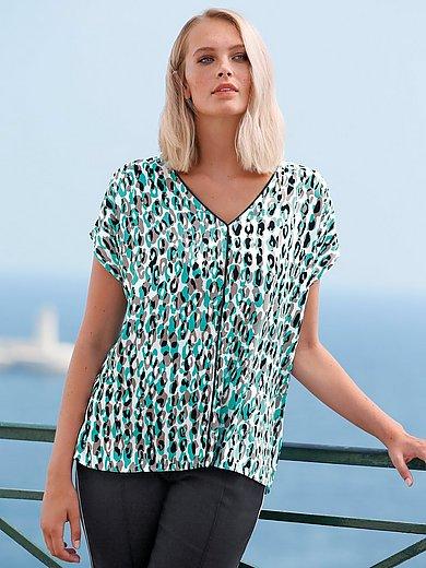 Anna Aura - Shirt met aangeknipte mouwen en luipaardprint