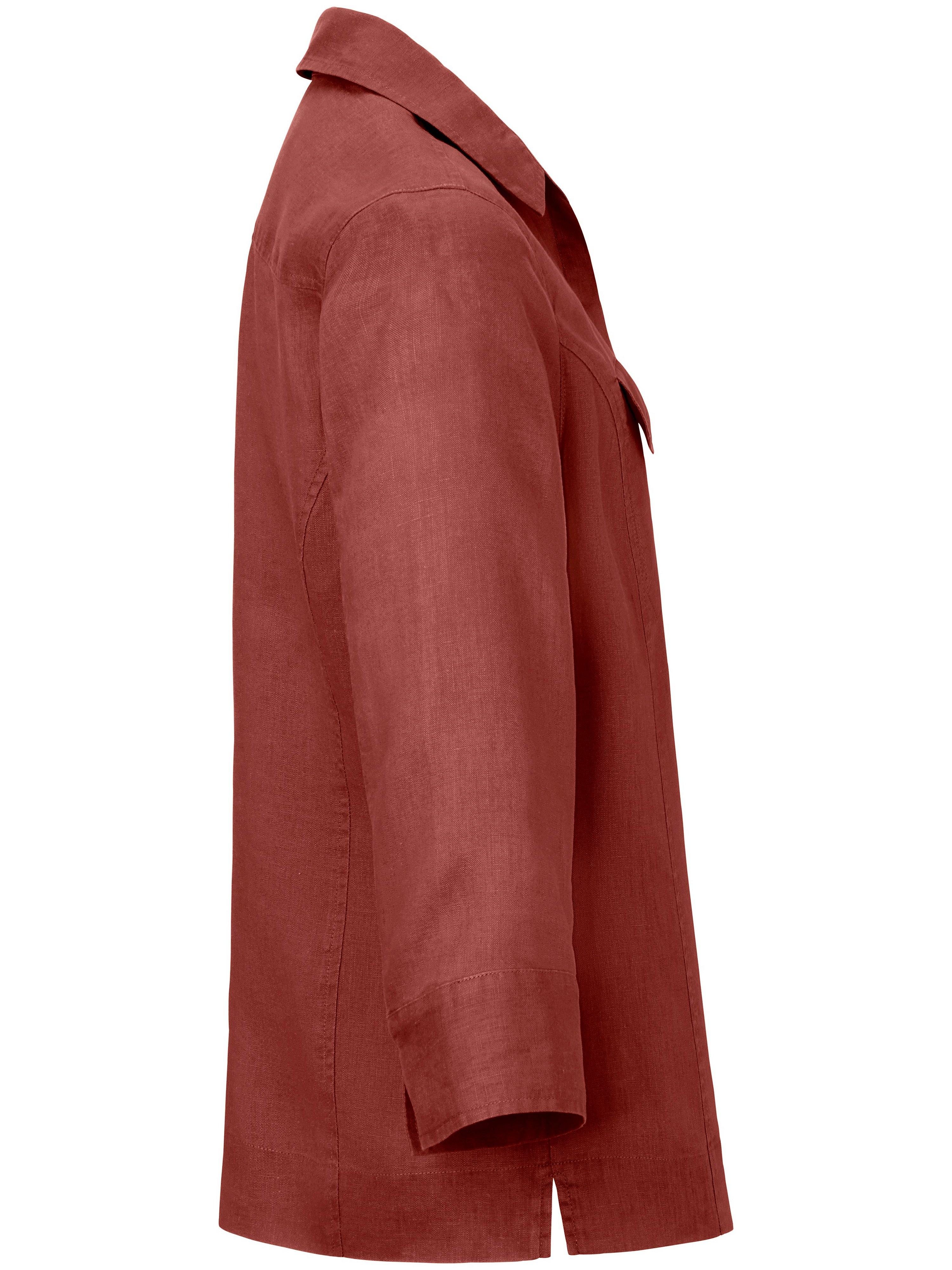 Skjorte i 100% hør Fra Peter Hahn orange