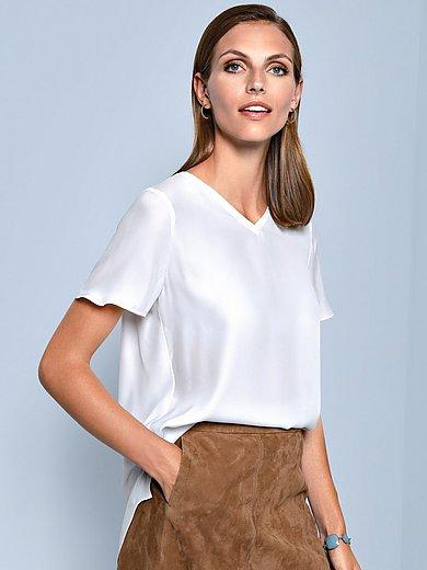 (THE MERCER) N.Y. - Blustopp med kort ärm i 100% silke