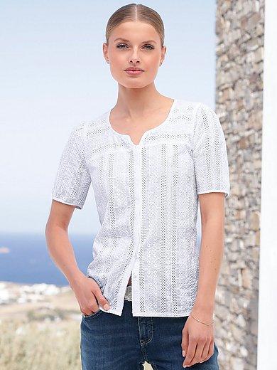 Hammerschmid - Skjorte med broderi i 100% bomuld