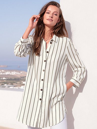 Just White - Long blouse with 3/4-length sleeves