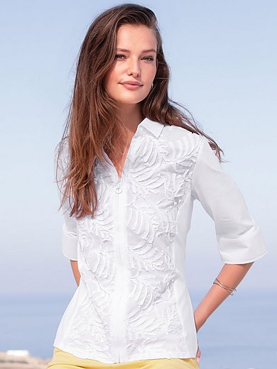 Just White - Blouse with 3/4-length sleeves