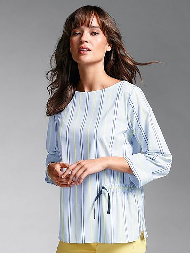 1863 by Eterna - Striped blouse with 3/4-length sleeves