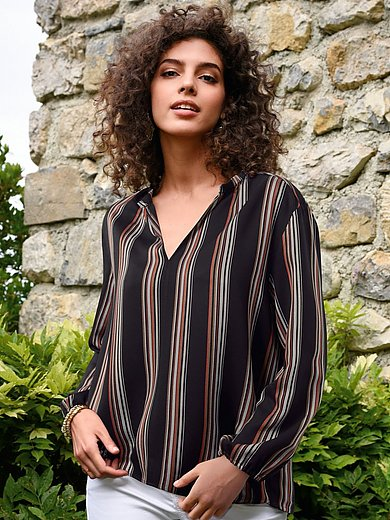 Lanius - Blouse with 7/8-length elasticated sleeves