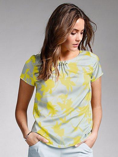 comma, - Satijnen blouse met korte mouwen