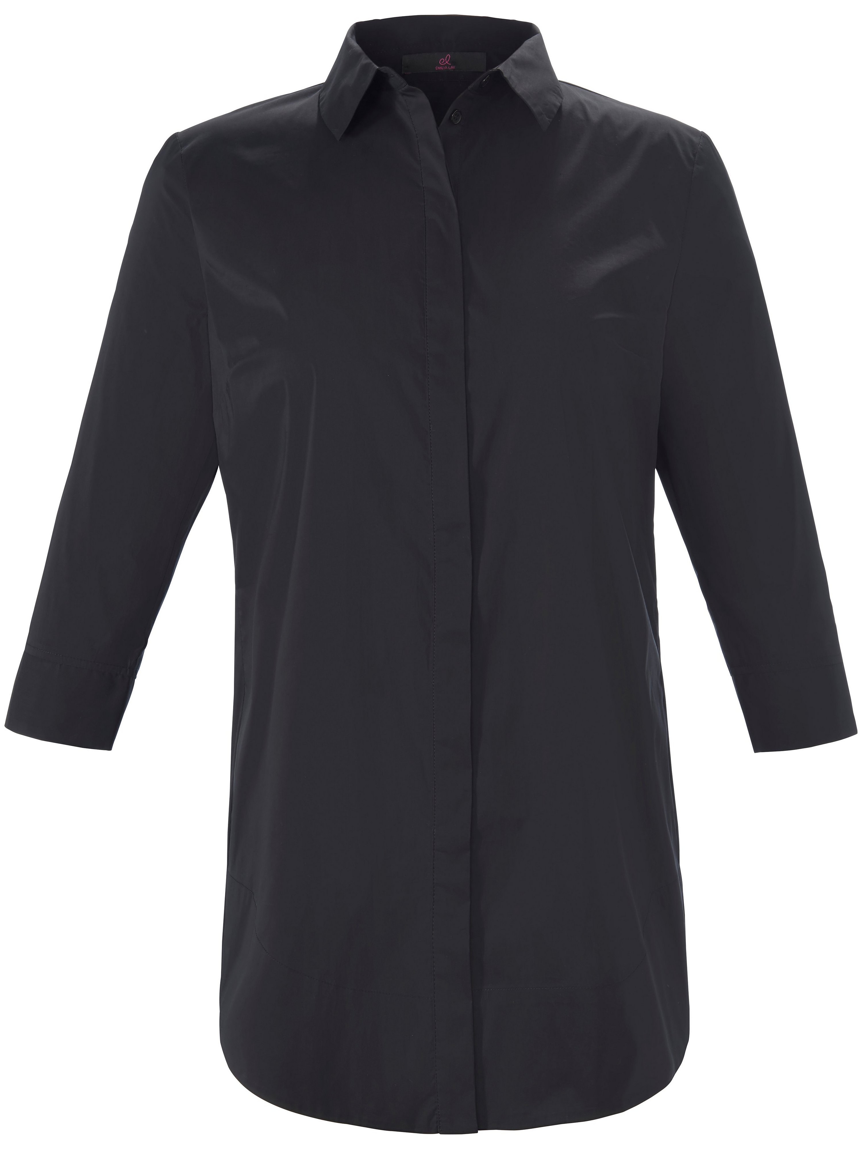 Lange blouse 3/4-mouwe Van Emilia Lay zwart