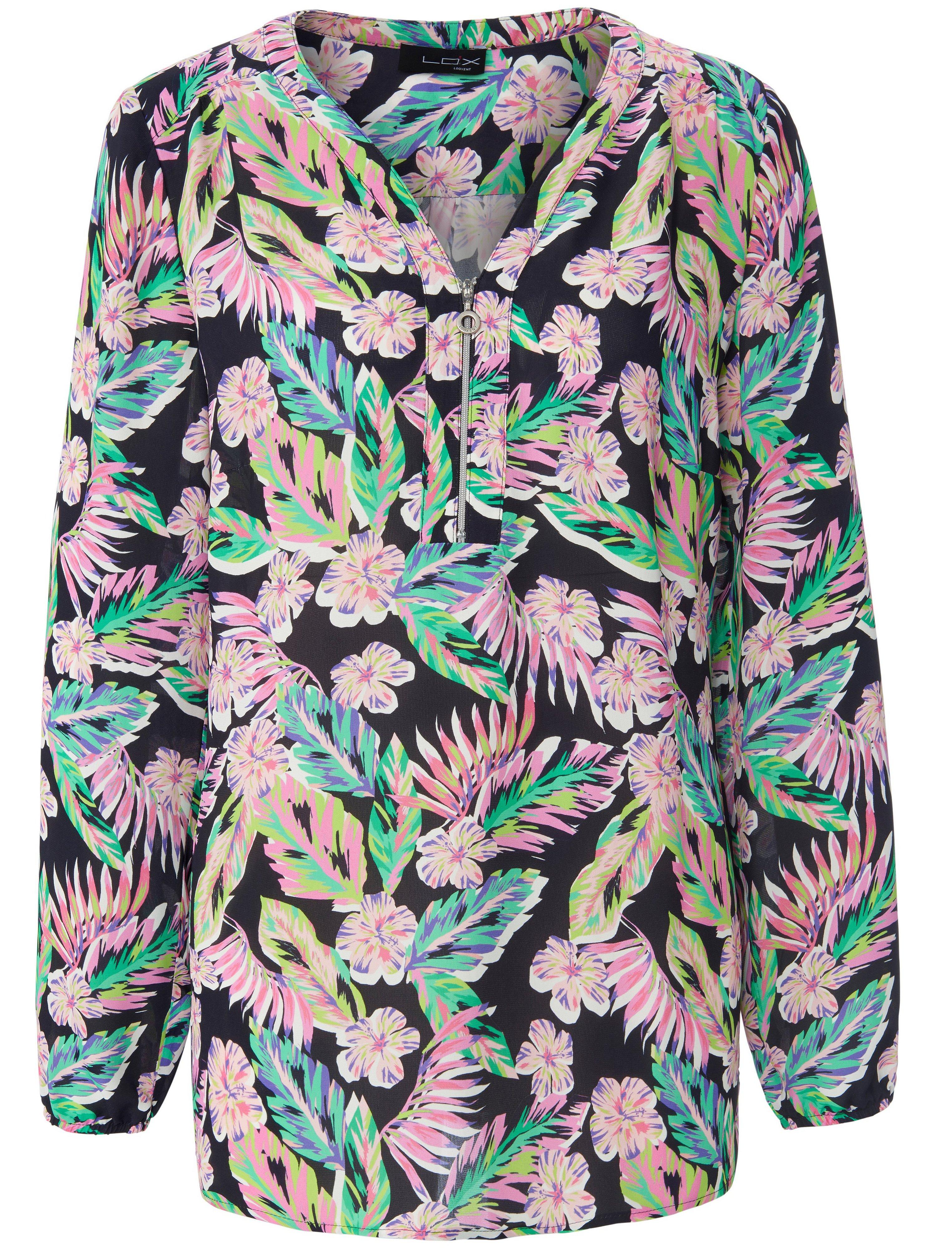 Tuniek lange mouwen en bloemenprint Van Looxent multicolour