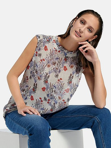 portray berlin - Mouwloze blouse met bloemenprint