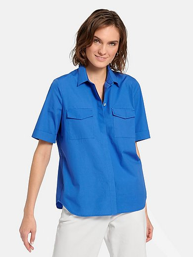 St. Emile - Short-sleeved blouse in 100% cotton