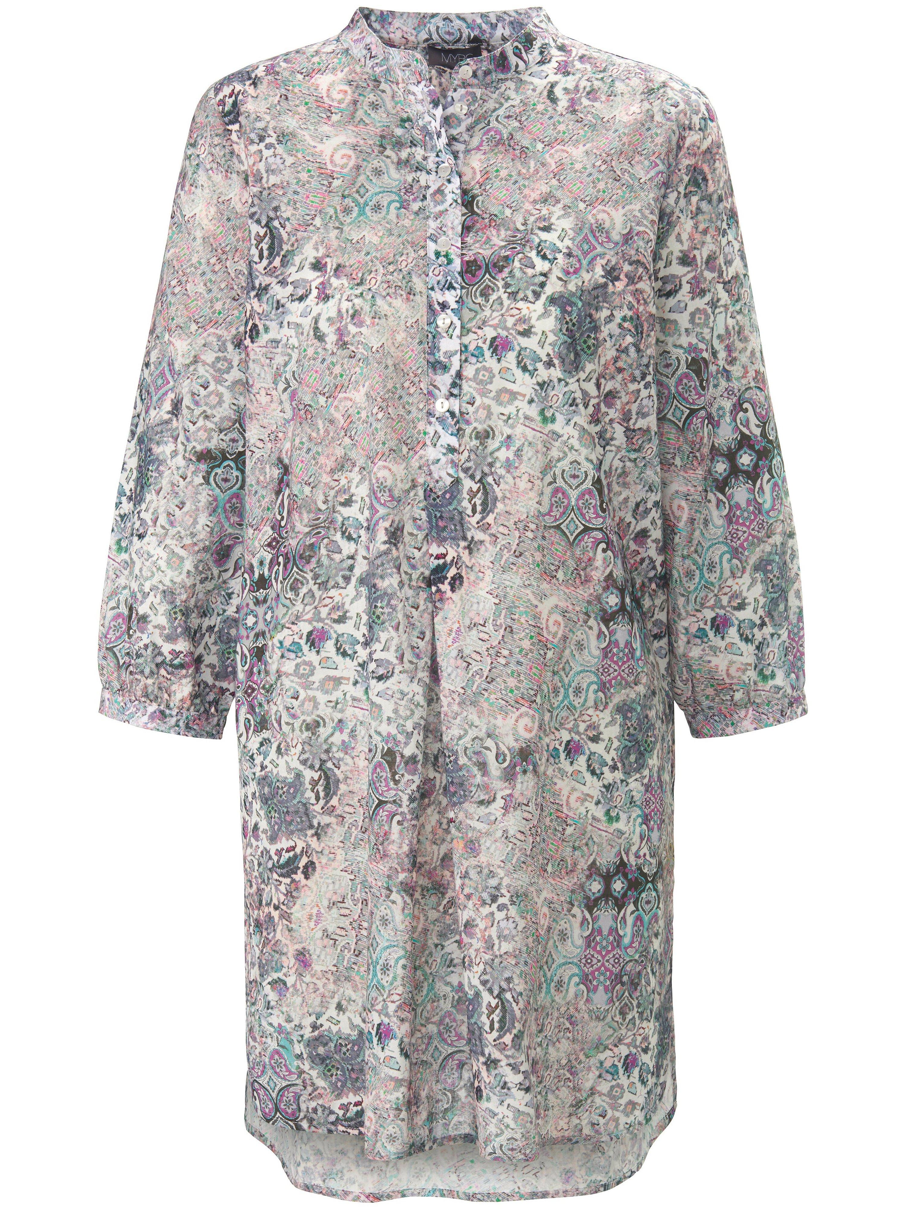 Lange blouse 100% katoen 3/4-mouwen Van MYBC multicolour