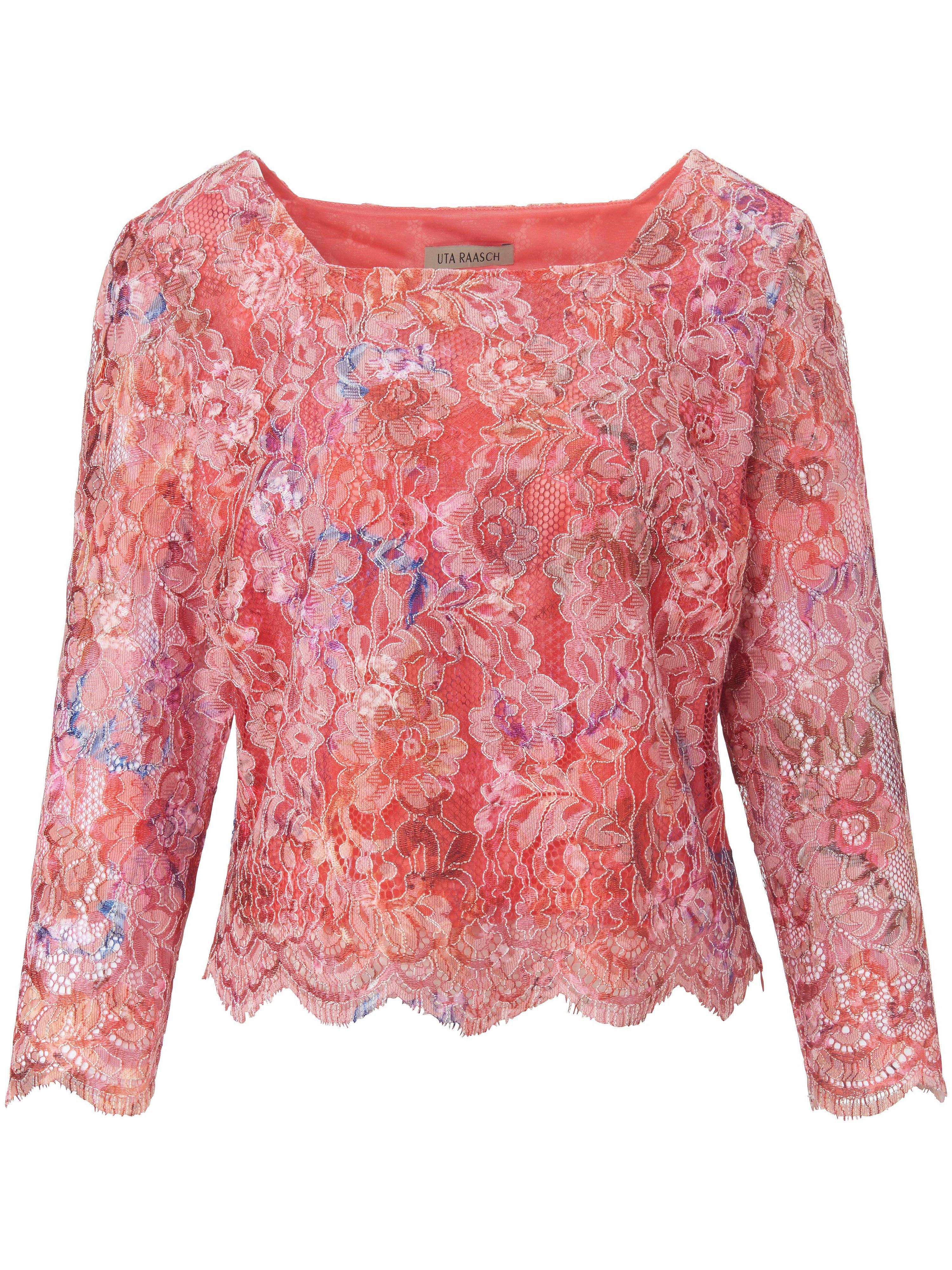 Kanten blouse 3/4-mouwen Van Uta Raasch multicolour