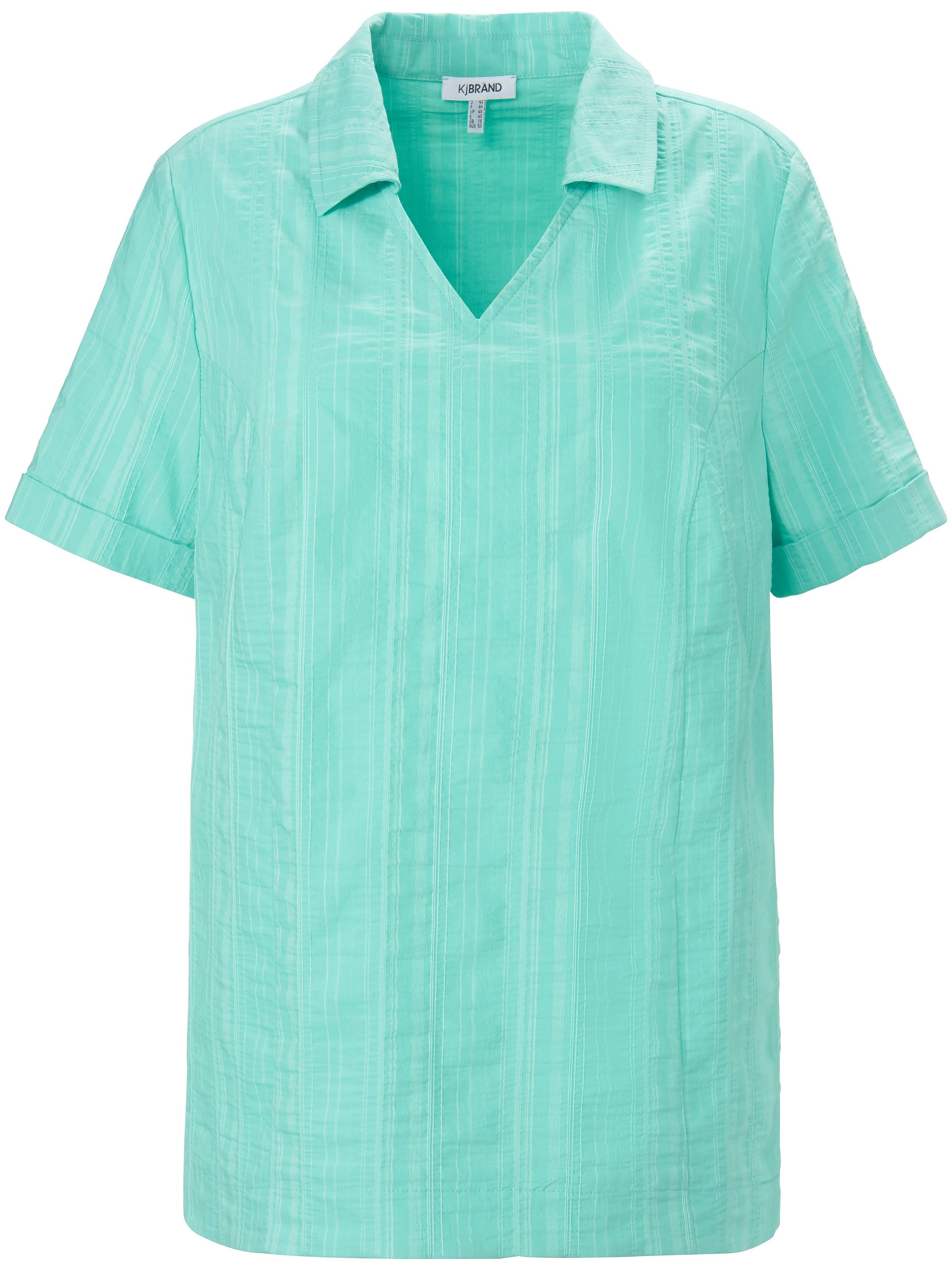 Pull-on style blouse Wash & Go KjBrand turquoise