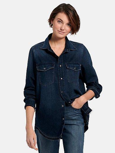 Joop! - Jeansoverhemd van 100% katoen met lange mouwen