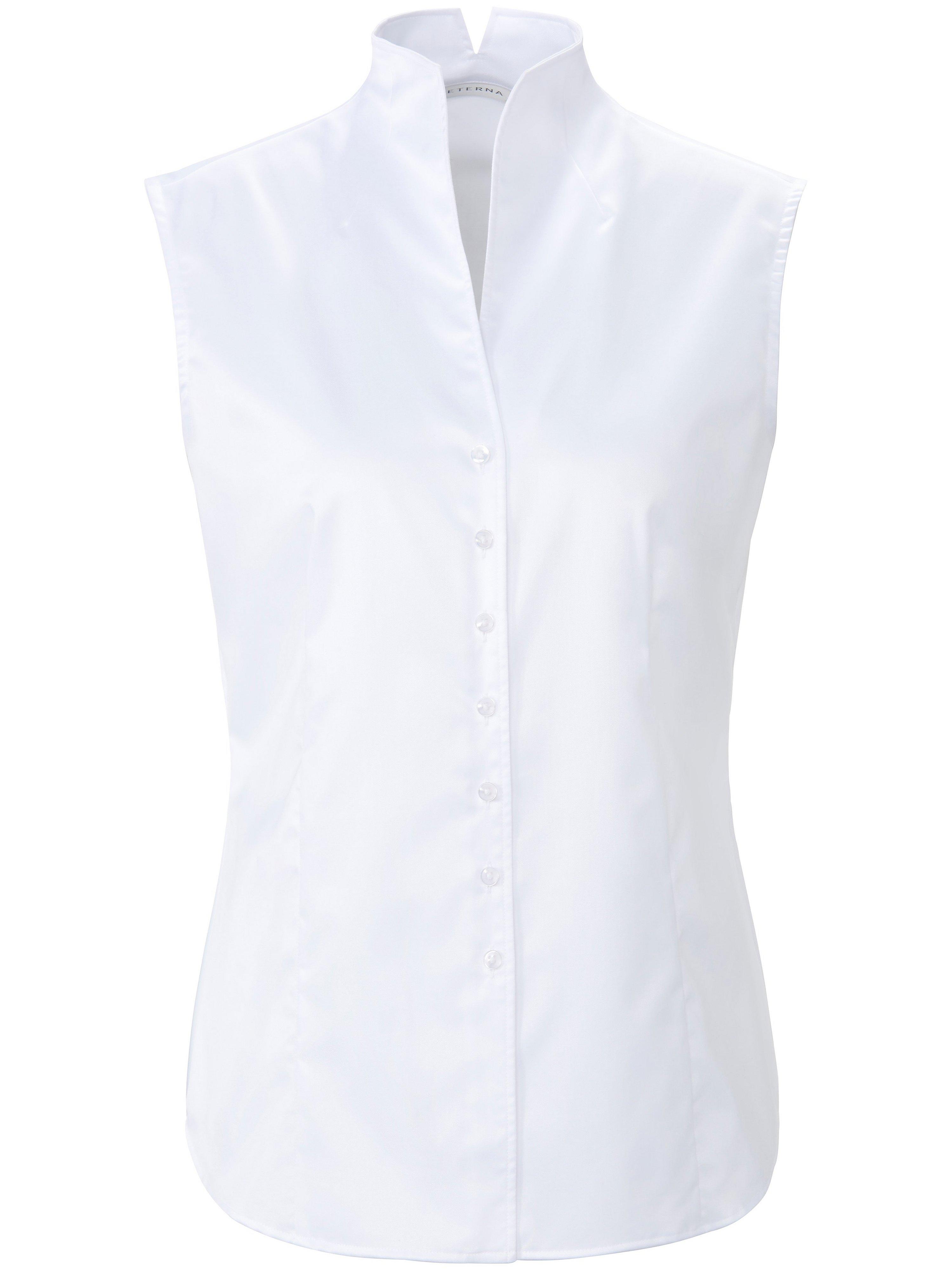 Mouwloze blouse 100% katoen Van Eterna wit