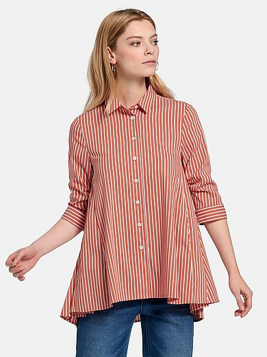 Steffen Schraut - Striped blouse with gathered 3/4-length sleeves
