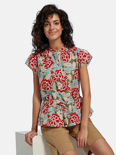 Bogner - Blouse with drop shoulder and floral print