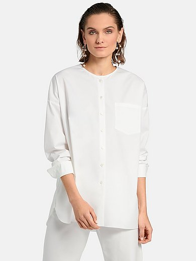 Riani - Blouse with long turn-up sleeves