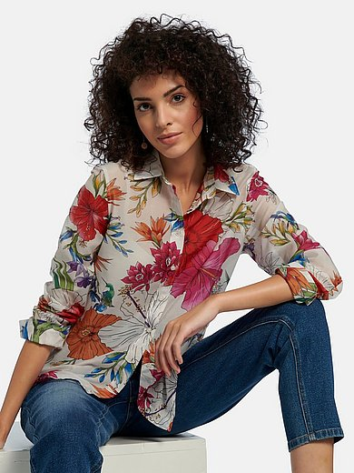 GANT - Long-sleeved blouse with floral print