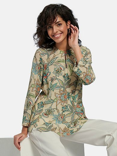 Riani - Blouse with 7/8-length sleeves and floral print