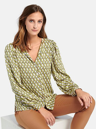 comma, - Blouse with long sleeves
