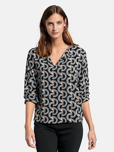 comma, - Blouse with 3/4 length sleeves