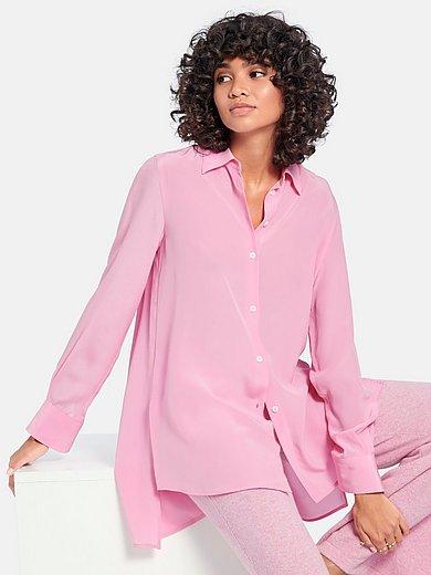 (THE MERCER) N.Y. - Lange blouse van 100% zijde met lange mouwen