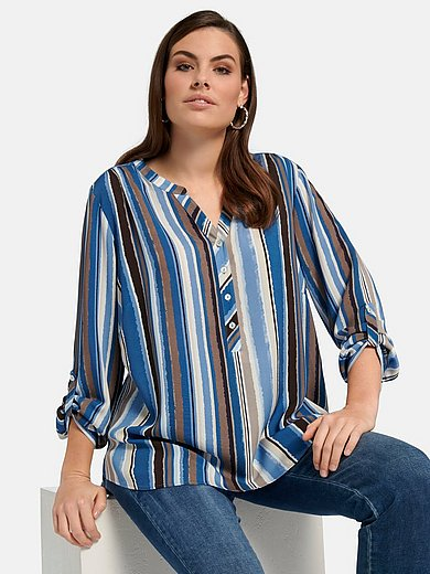 Via Appia Due - Blouse with long turn-up sleeves