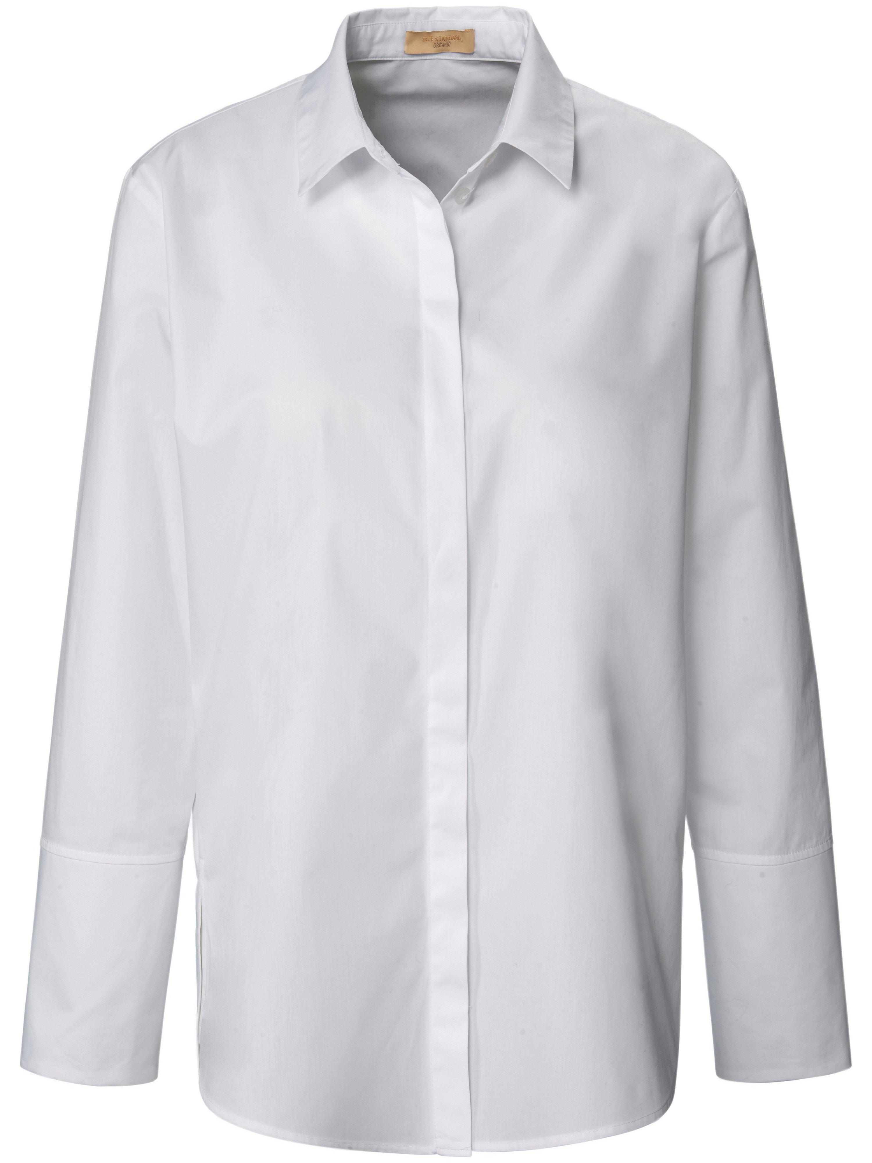 Lange blouse 100% katoen lange mouwen Van tRUE STANDARD wit