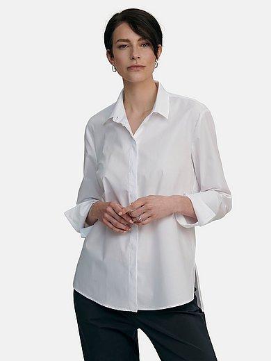 tRUE STANDARD - Longline blouse in 100% cotton