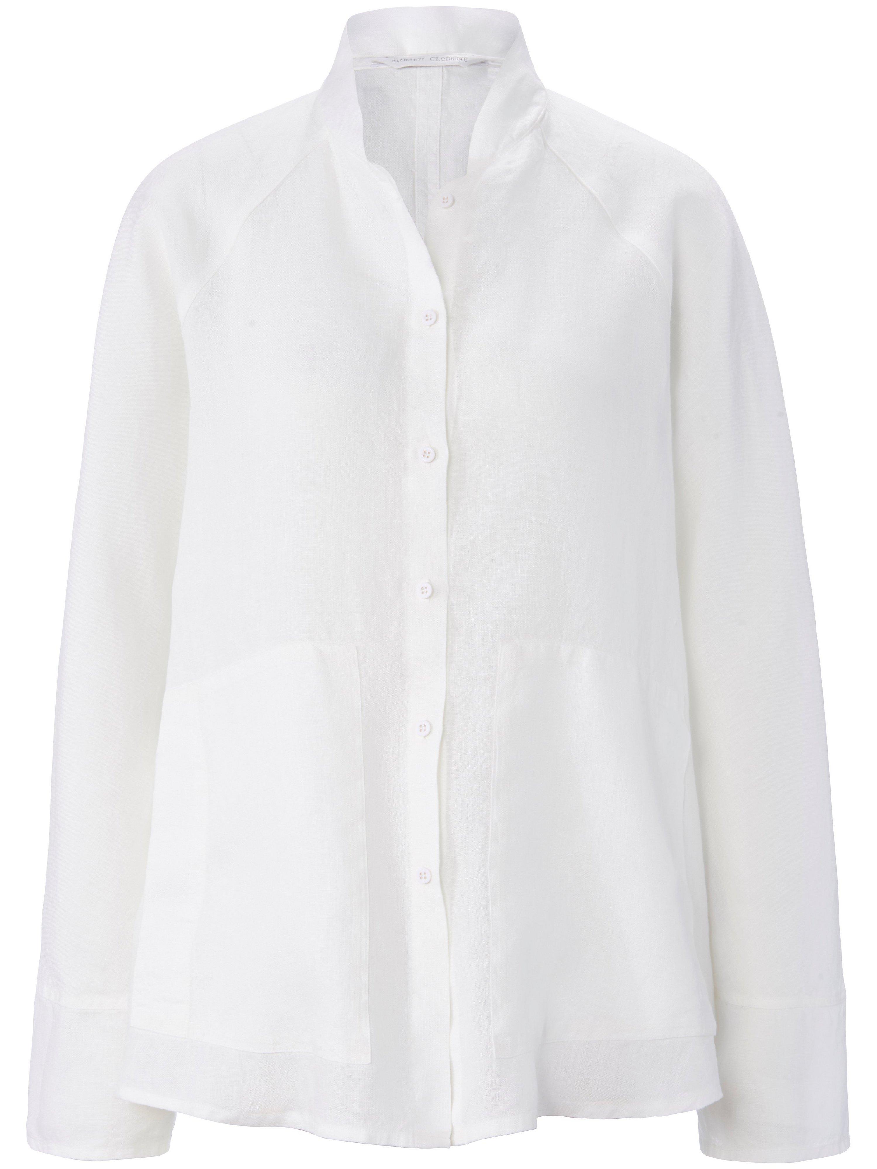 Blousejasje 100% linnen lange mouwen Van elemente clemente wit