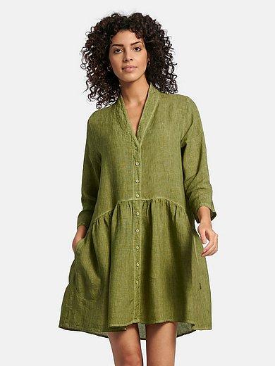 elemente clemente - Lange blouse van 100% linnen met 3/4-mouwen