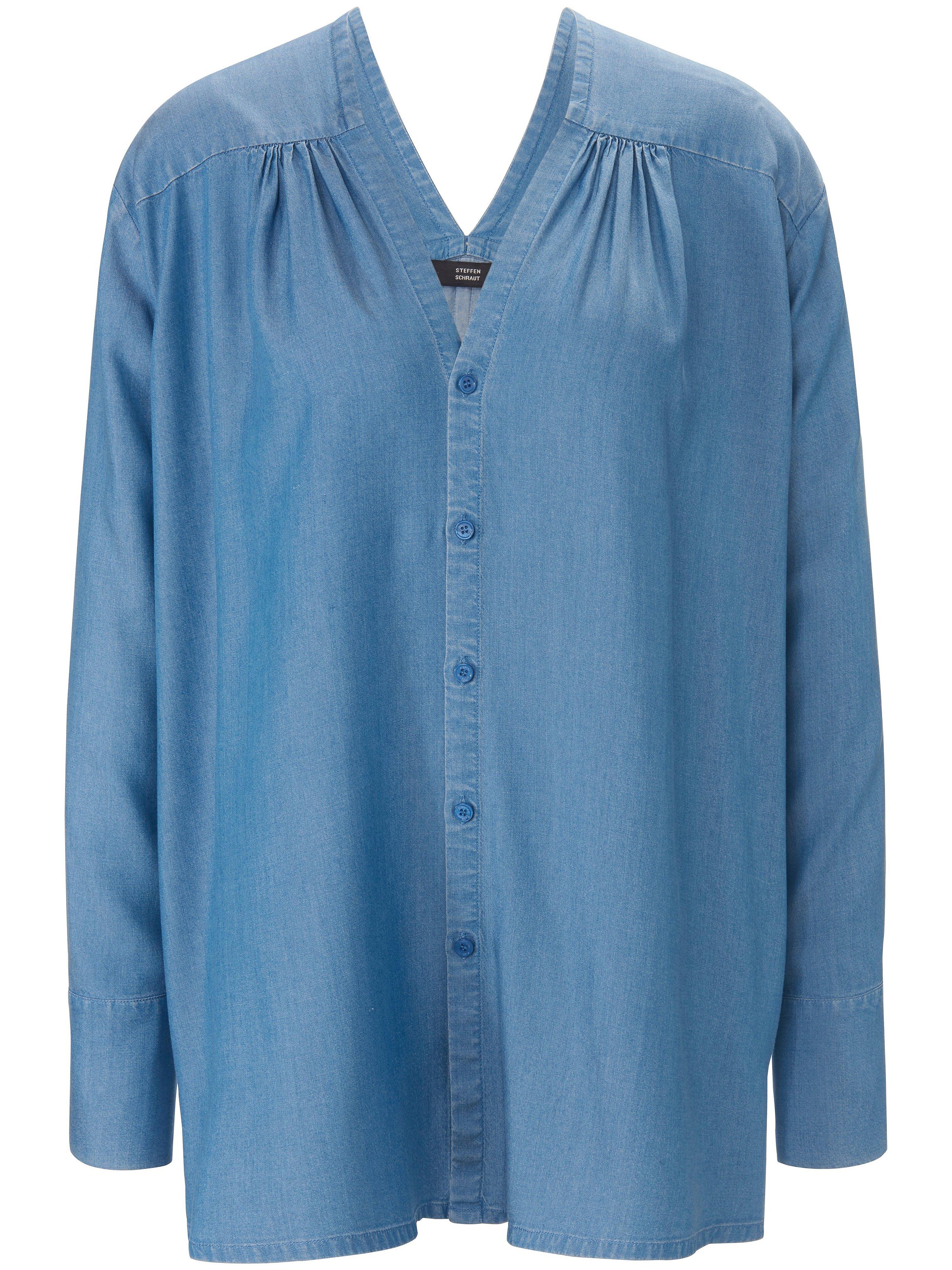 Lange blouse lange mouwen Van Steffen Schraut blauw
