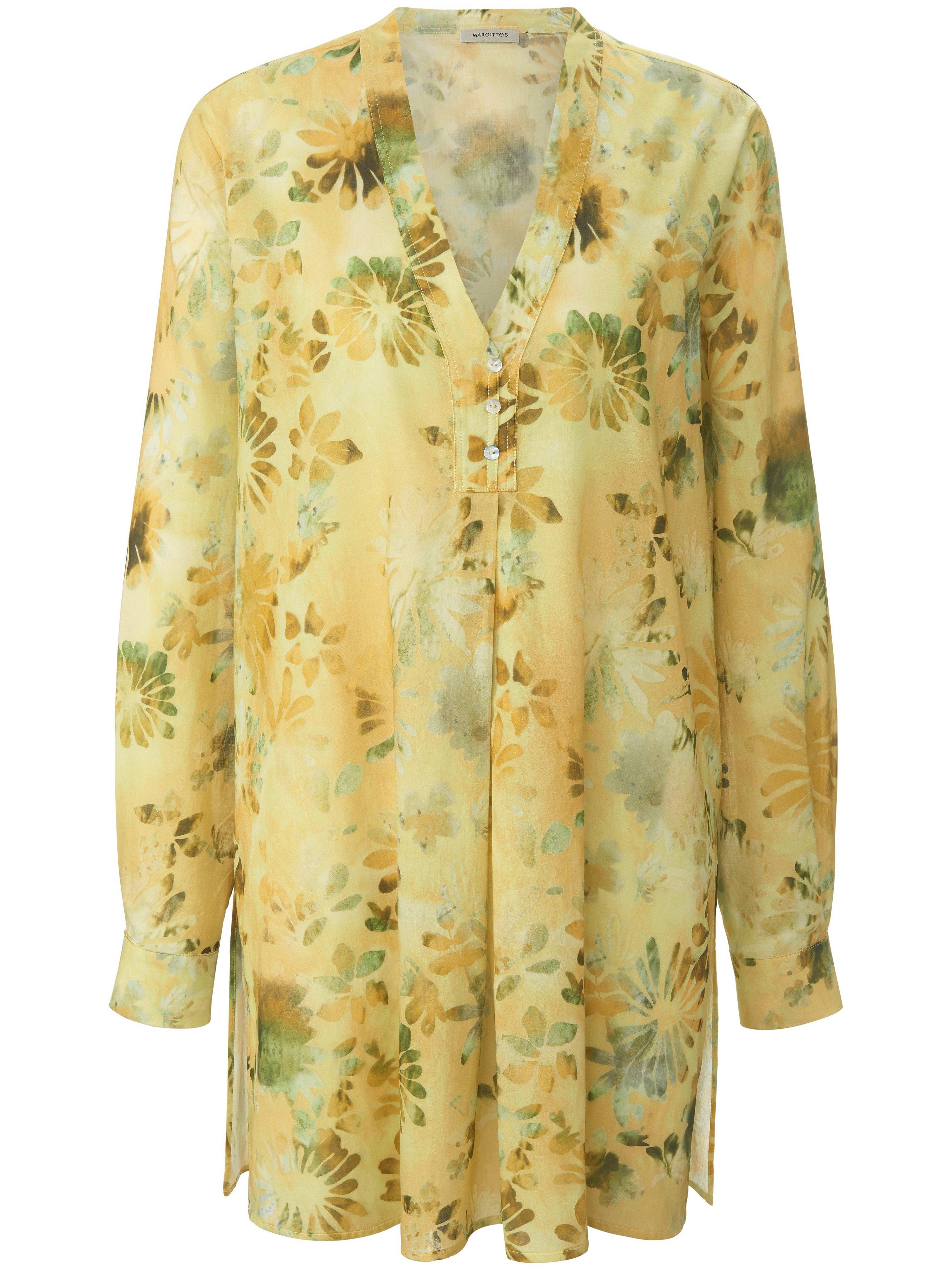 Lange blouse Van Margittes geel