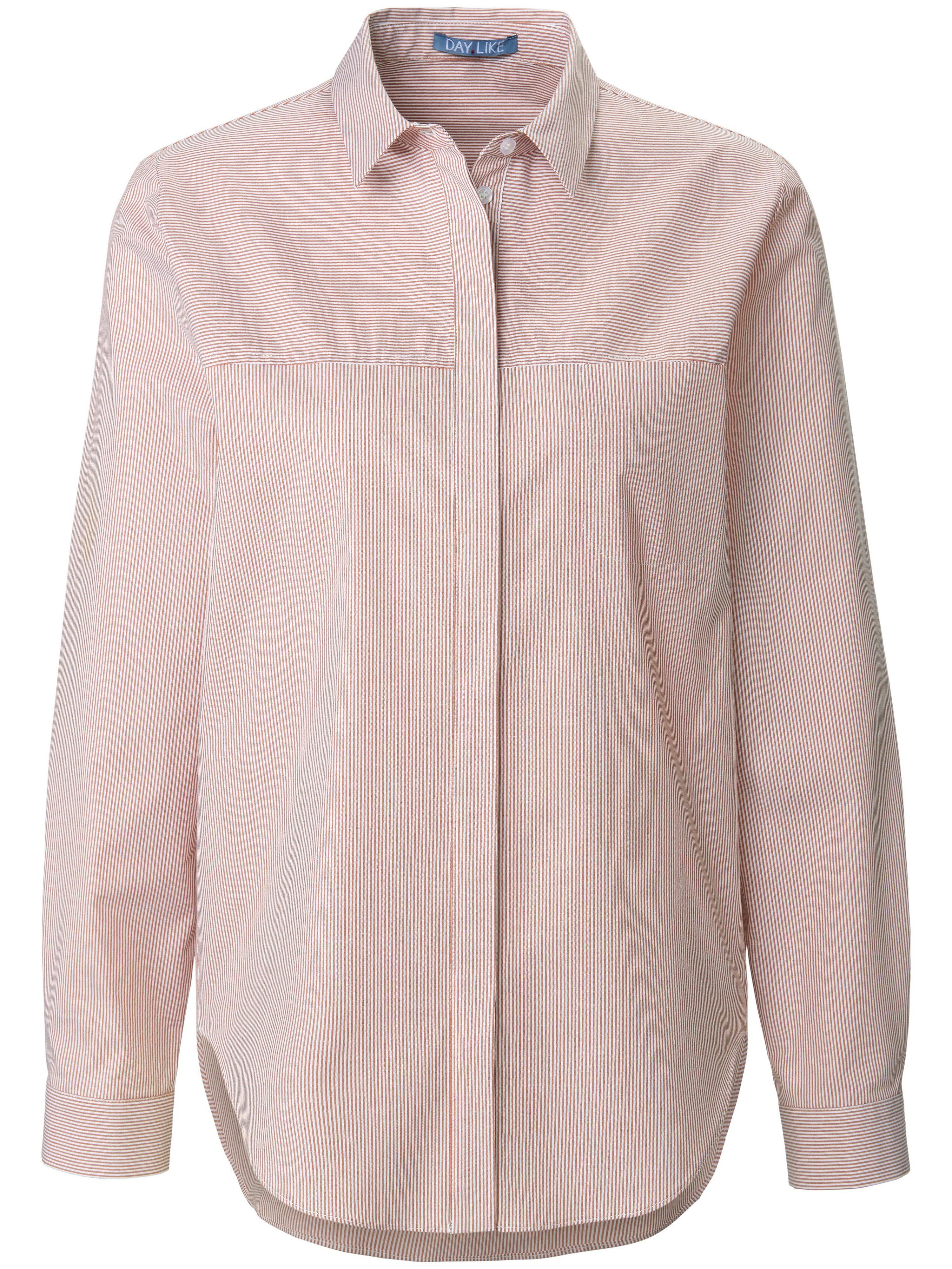 Lange blouse lange mouwen Van DAY.LIKE wit