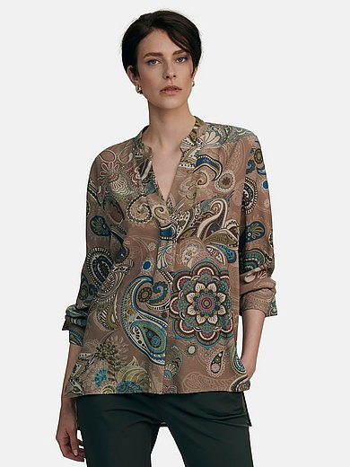 tRUE STANDARD - Long blouse with V-neck