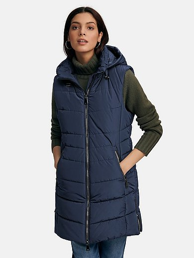 Gil Bret - Long quilted gilet with removable hood