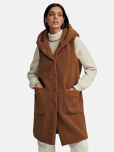 White Label - La veste longue en fausse fourrure à capuche