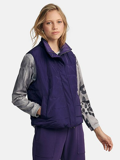 Margittes - Quilted gilet with stand-up collar