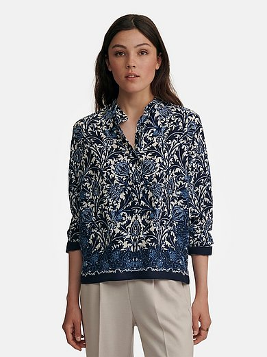 Windsor - Blouse with long sleeves and elegant border print
