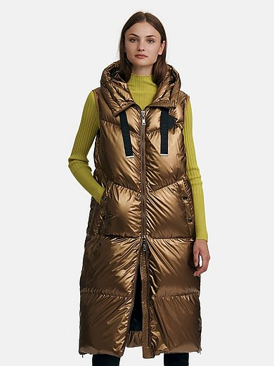 Heyer - Long quilted gilet with a hood